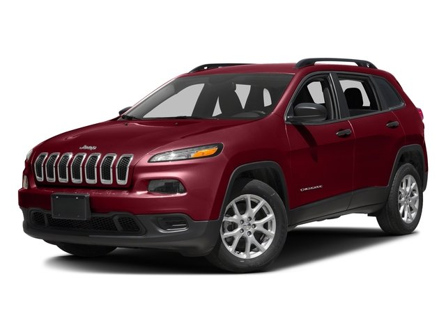 Deep Cherry Red Crystal Pearlcoat 2016 Jeep Cherokee Pictures Cherokee Utility 4D Sport 2WD photos front view