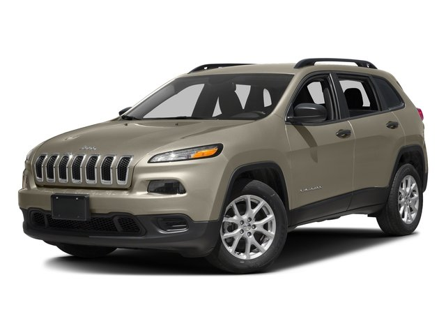 Light Brownstone Pearlcoat 2016 Jeep Cherokee Pictures Cherokee Utility 4D Sport 4WD V6 photos front view