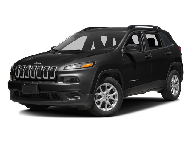 Brilliant Black Crystal Pearlcoat 2016 Jeep Cherokee Pictures Cherokee Utility 4D Sport 2WD V6 photos front view