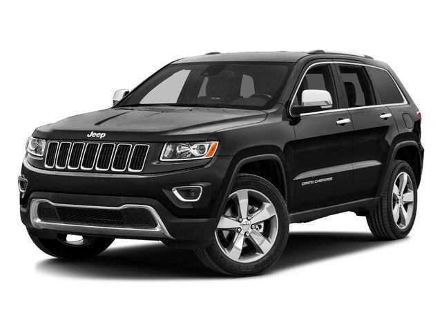 Brilliant Black Crystal Pearlcoat 2016 Jeep Grand Cherokee Pictures Grand Cherokee Utility 4D Limited 2WD photos front view