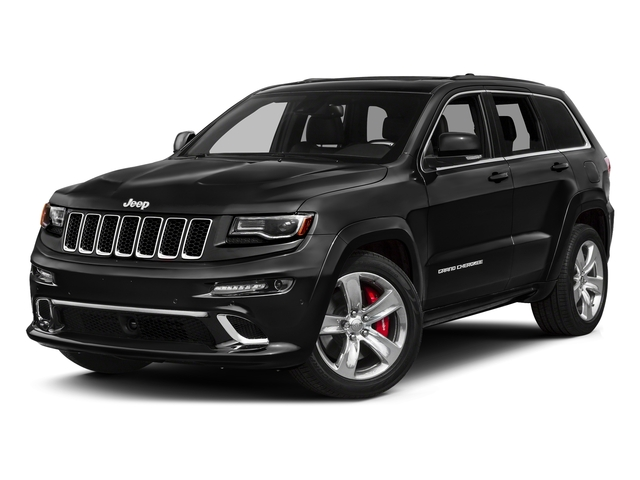 Brilliant Black Crystal Pearlcoat 2016 Jeep Grand Cherokee Pictures Grand Cherokee Utility 4D SRT-8 4WD photos front view