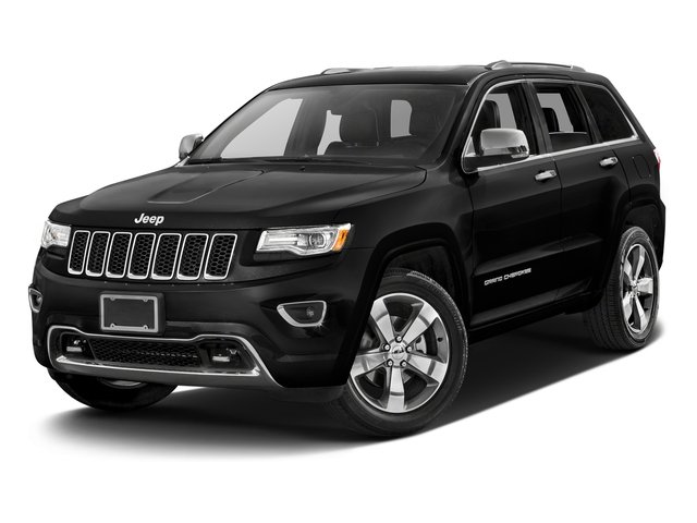 Brilliant Black Crystal Pearlcoat 2016 Jeep Grand Cherokee Pictures Grand Cherokee Utility 4D Overland Diesel 4WD photos front view