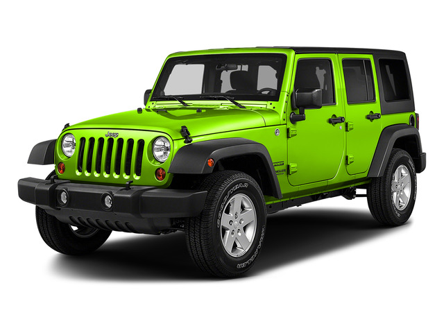 Hypergreen Clearcoat 2016 Jeep Wrangler Unlimited Pictures Wrangler Unlimited Utility 4D Unlimited Sport 4WD V6 photos front view