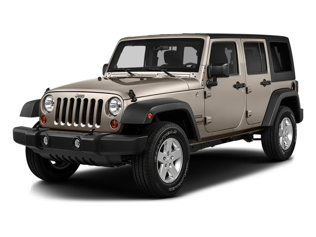 Mojave Sand Clearcoat 2016 Jeep Wrangler Unlimited Pictures Wrangler Unlimited Utility 4D Unlimited Sport 4WD V6 photos front view