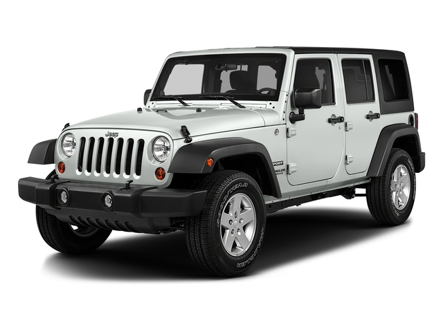 Bright White Clearcoat 2016 Jeep Wrangler Unlimited Pictures Wrangler Unlimited Utility 4D Unlimited Sport 4WD V6 photos front view
