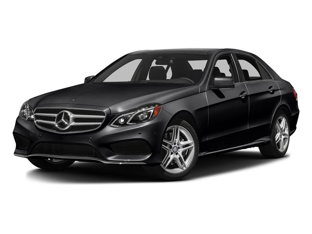Black 2016 Mercedes-Benz E-Class Pictures E-Class Sedan 4D E350 AWD V6 photos front view