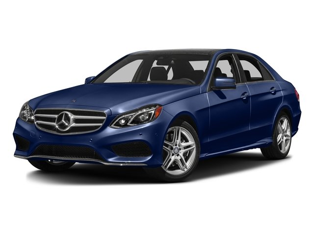 Indigo Blue Metallic 2016 Mercedes-Benz E-Class Pictures E-Class Sedan 4D E350 AWD V6 photos front view