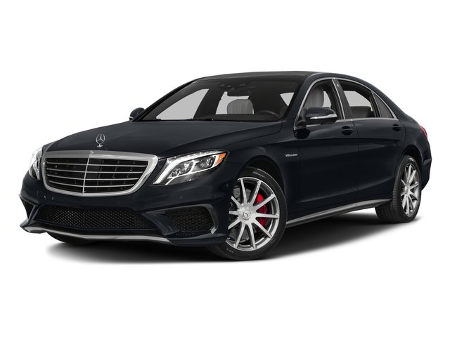 Anthracite Blue Metallic 2016 Mercedes-Benz S-Class Pictures S-Class Sedan 4D S63 AMG AWD V8 Turbo photos front view
