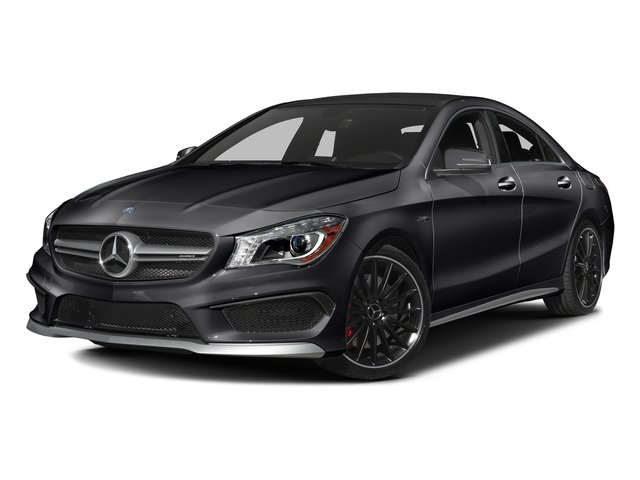 Night Black 2016 Mercedes-Benz CLA Pictures CLA Sedan 4D CLA45 AMG AWD I4 Turbo photos front view