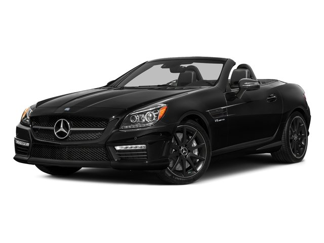 Obsidian Black Metallic 2016 Mercedes-Benz SLK Pictures SLK Roadster 2D SLK55 AMG V8 photos front view