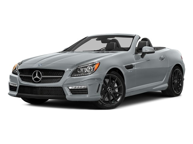 Diamond Silver Metallic 2016 Mercedes-Benz SLK Pictures SLK Roadster 2D SLK55 AMG V8 photos front view