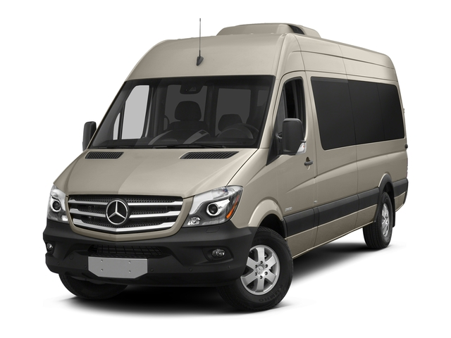 Stone Gray Metallic 2016 Mercedes-Benz Sprinter Passenger Vans Pictures Sprinter Passenger Vans Extended Passenger Van High Roof photos front view