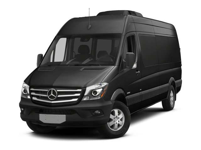 Obsidian Black Metallic 2016 Mercedes-Benz Sprinter Passenger Vans Pictures Sprinter Passenger Vans Extended Passenger Van High Roof photos front view