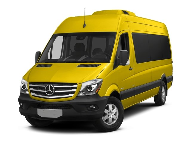 Broom Yellow 2016 Mercedes-Benz Sprinter Passenger Vans Pictures Sprinter Passenger Vans Extended Passenger Van High Roof photos front view