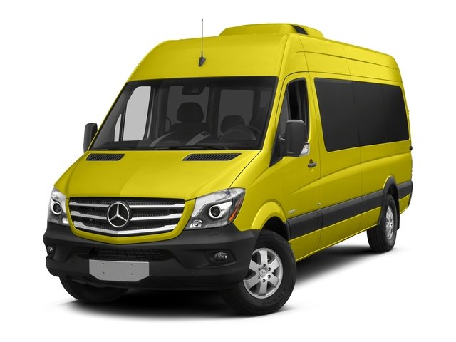 Calcite Yellow Metallic 2016 Mercedes-Benz Sprinter Passenger Vans Pictures Sprinter Passenger Vans Extended Passenger Van High Roof photos front view