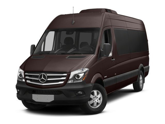 Earth Brown 2016 Mercedes-Benz Sprinter Passenger Vans Pictures Sprinter Passenger Vans Extended Passenger Van High Roof photos front view
