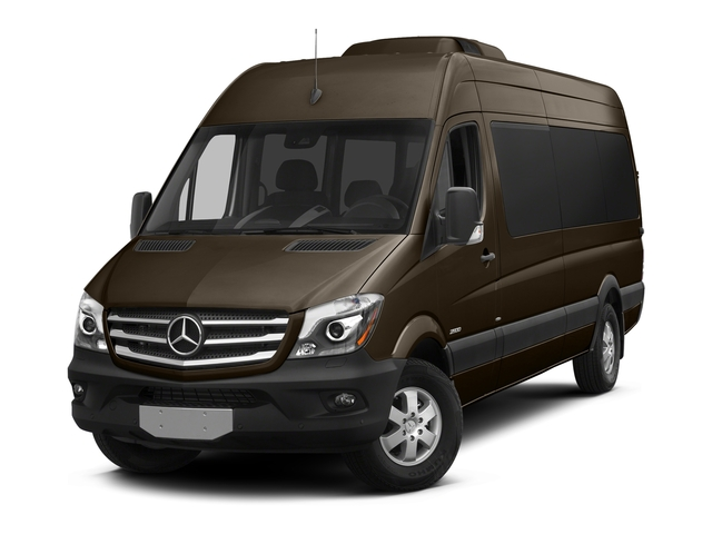 Dolomite Brown Metallic 2016 Mercedes-Benz Sprinter Passenger Vans Pictures Sprinter Passenger Vans Extended Passenger Van High Roof photos front view