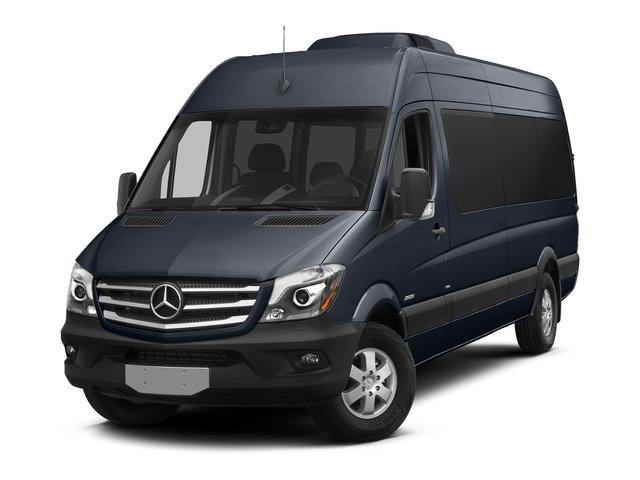Graphite Gray Metallic 2016 Mercedes-Benz Sprinter Passenger Vans Pictures Sprinter Passenger Vans Extended Passenger Van High Roof photos front view