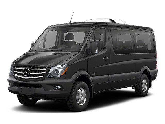 Graphite Gray Metallic 2016 Mercedes-Benz Sprinter Passenger Vans Pictures Sprinter Passenger Vans Passenger Van photos front view