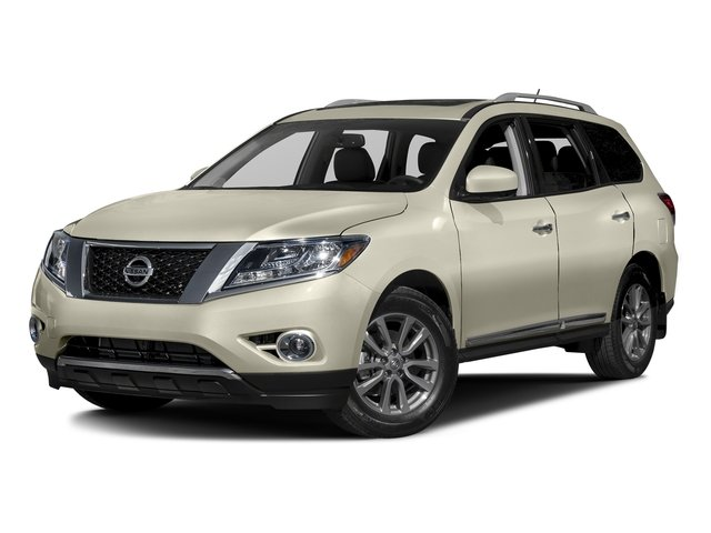 Pearl White 2016 Nissan Pathfinder Pictures Pathfinder Utility 4D Platinum 4WD V6 photos front view