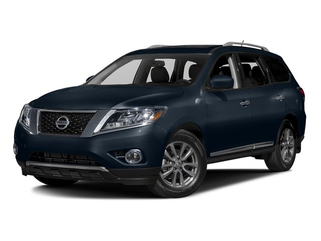 Arctic Blue Metallic 2016 Nissan Pathfinder Pictures Pathfinder Utility 4D SL 4WD V6 photos front view