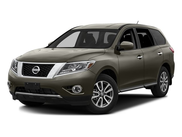 Midnight Jade Metallic 2016 Nissan Pathfinder Pictures Pathfinder Utility 4D SV 2WD V6 photos front view