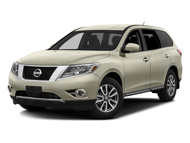 Pearl White 2016 Nissan Pathfinder Pictures Pathfinder Utility 4D SV 2WD V6 photos front view