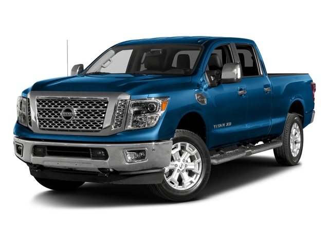 Deep Blue Pearl 2016 Nissan Titan XD Pictures Titan XD Crew Cab SL 2WD V8 photos front view