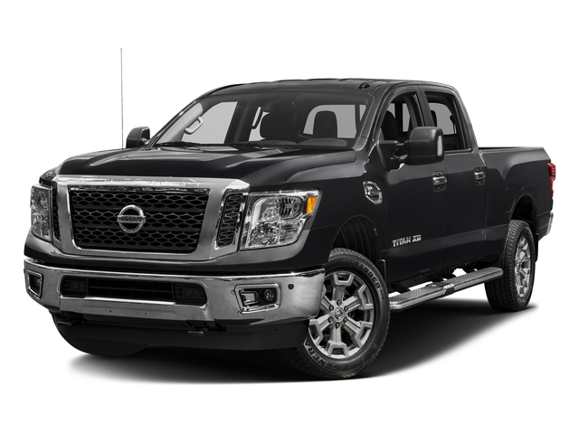 Magnetic Black 2016 Nissan Titan XD Pictures Titan XD Crew Cab SV 2WD V8 photos front view