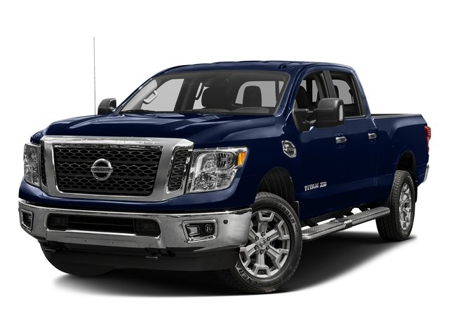 Deep Blue Pearl 2016 Nissan Titan XD Pictures Titan XD Crew Cab SV 2WD V8 photos front view