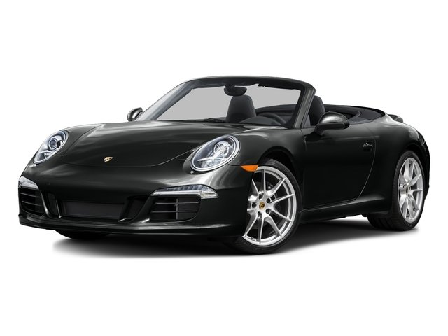 Jet Black Metallic 2016 Porsche 911 Pictures 911 Cabriolet 2D Black Edition H6 photos front view