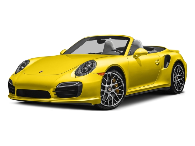 Racing Yellow 2016 Porsche 911 Pictures 911 Cabriolet 2D AWD H6 Turbo photos front view
