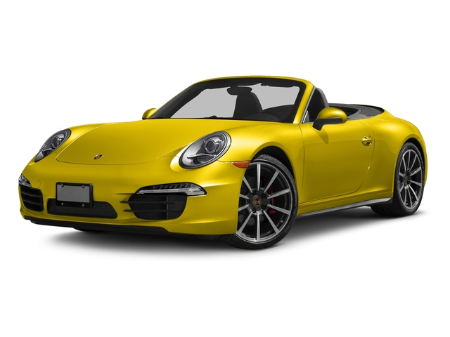 Racing Yellow 2016 Porsche 911 Pictures 911 Cabriolet 2D 4S AWD H6 photos front view
