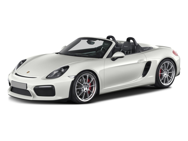 White 2016 Porsche Boxster Pictures Boxster Roadster 2D Spyder H6 photos front view