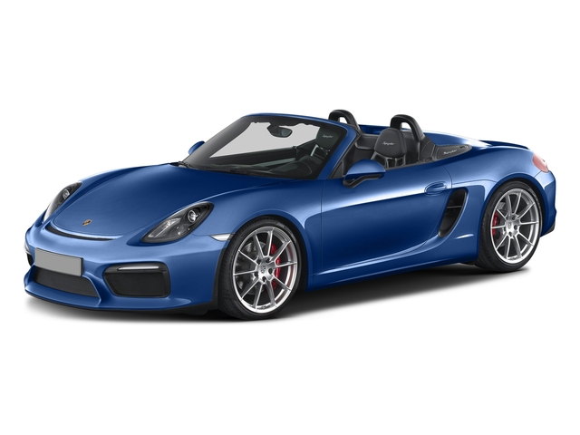 Sapphire Blue Metallic 2016 Porsche Boxster Pictures Boxster Roadster 2D Spyder H6 photos front view