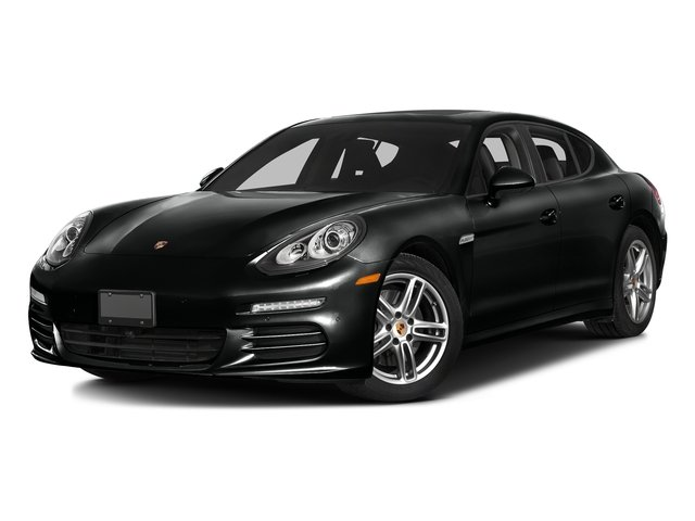 Jet Black Metallic 2016 Porsche Panamera Pictures Panamera Hatchback 4D Exclusive AWD V8 Turbo photos front view