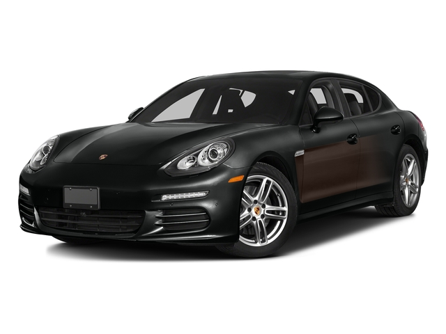 Jet Black Metallic/Chestnut Brown Metallic 2016 Porsche Panamera Pictures Panamera Hatchback 4D Exclusive AWD V8 Turbo photos front view