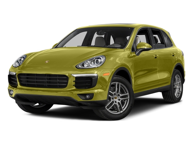 Peridot Metallic 2016 Porsche Cayenne Pictures Cayenne Utility 4D AWD V6 T-Diesel photos front view