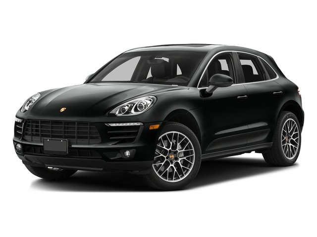 Jet Black Metallic 2016 Porsche Macan Pictures Macan Utility 4D AWD V6 Turbo photos front view