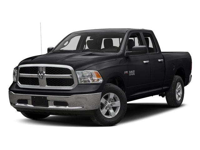 Black Clearcoat 2016 Ram Truck 1500 Pictures 1500 Quad Cab SLT 4WD photos front view