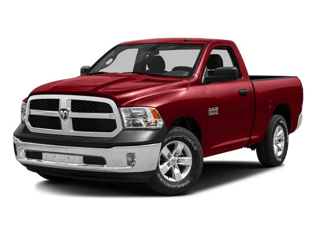 Bright Red 2016 Ram Truck 1500 Pictures 1500 Regular Cab SLT 4WD photos front view