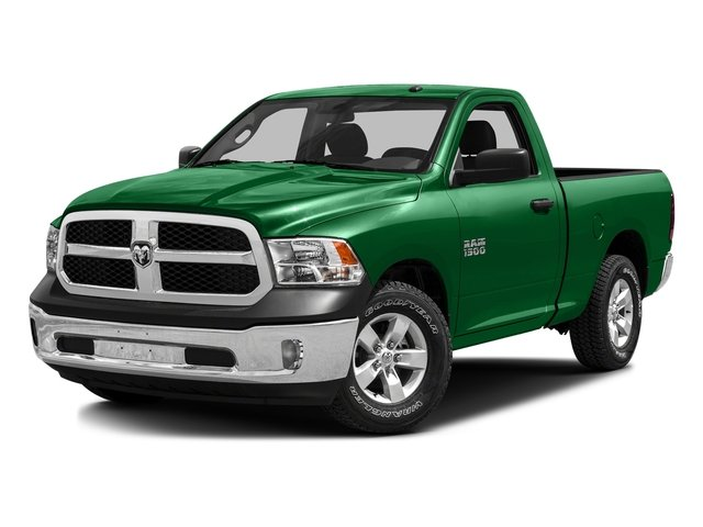Bright Green 2016 Ram Truck 1500 Pictures 1500 Regular Cab SLT 2WD photos front view