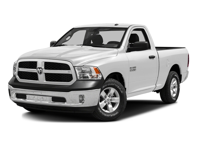 Bright White Clearcoat 2016 Ram Truck 1500 Pictures 1500 Regular Cab SLT 4WD photos front view