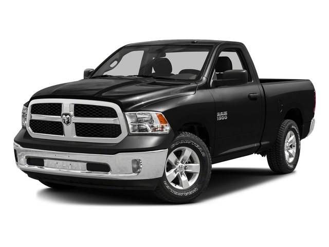 Brilliant Black Crystal Pearlcoat 2016 Ram Truck 1500 Pictures 1500 Regular Cab SLT 2WD photos front view