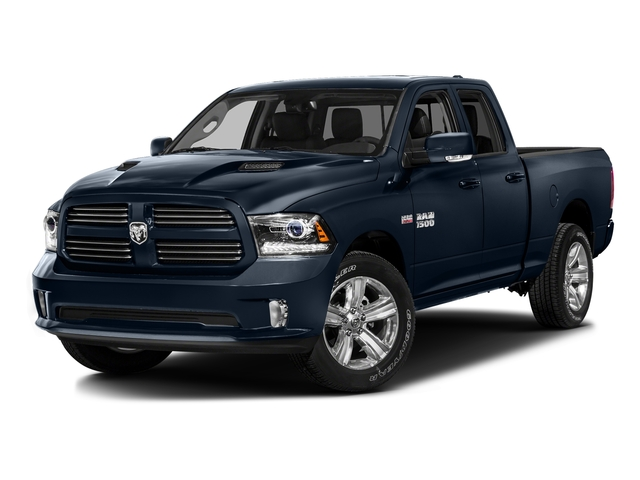 True Blue Pearlcoat 2016 Ram Truck 1500 Pictures 1500 Quad Cab Sport 2WD photos front view