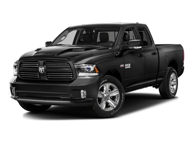 Brilliant Black Crystal Pearlcoat 2016 Ram Truck 1500 Pictures 1500 Quad Cab Sport 2WD photos front view