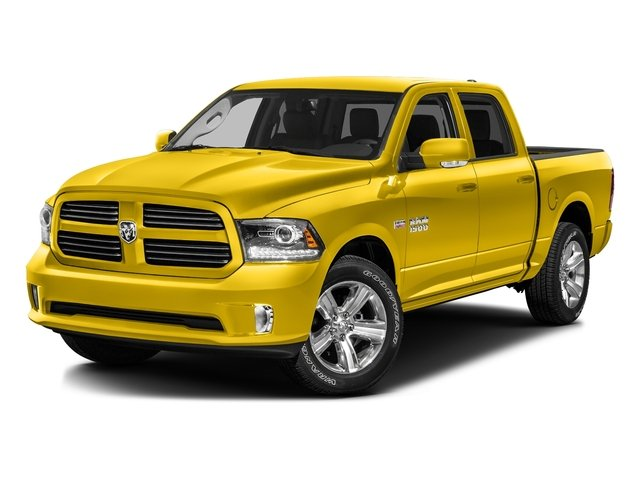 Yellow 2016 Ram Truck 1500 Pictures 1500 Crew Cab Outdoorsman 4WD photos front view