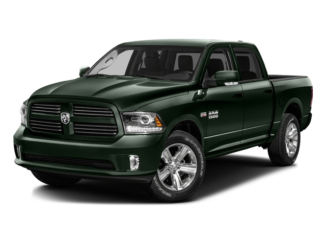 Black Forest Green Pearlcoat 2016 Ram Truck 1500 Pictures 1500 Crew Cab Outdoorsman 4WD photos front view
