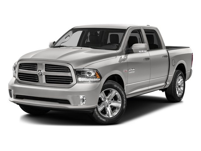 Bright Silver Metallic Clearcoat 2016 Ram Truck 1500 Pictures 1500 Crew Cab Sport 2WD photos front view