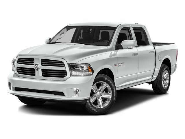 Bright White Clearcoat 2016 Ram Truck 1500 Pictures 1500 Crew Cab Outdoorsman 4WD photos front view